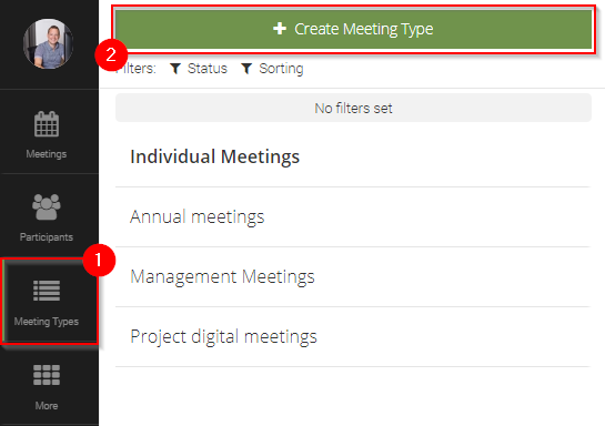 Create Meeting Type