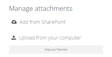 Manage attachments