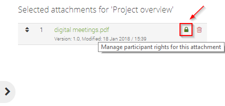 Manage participant rights