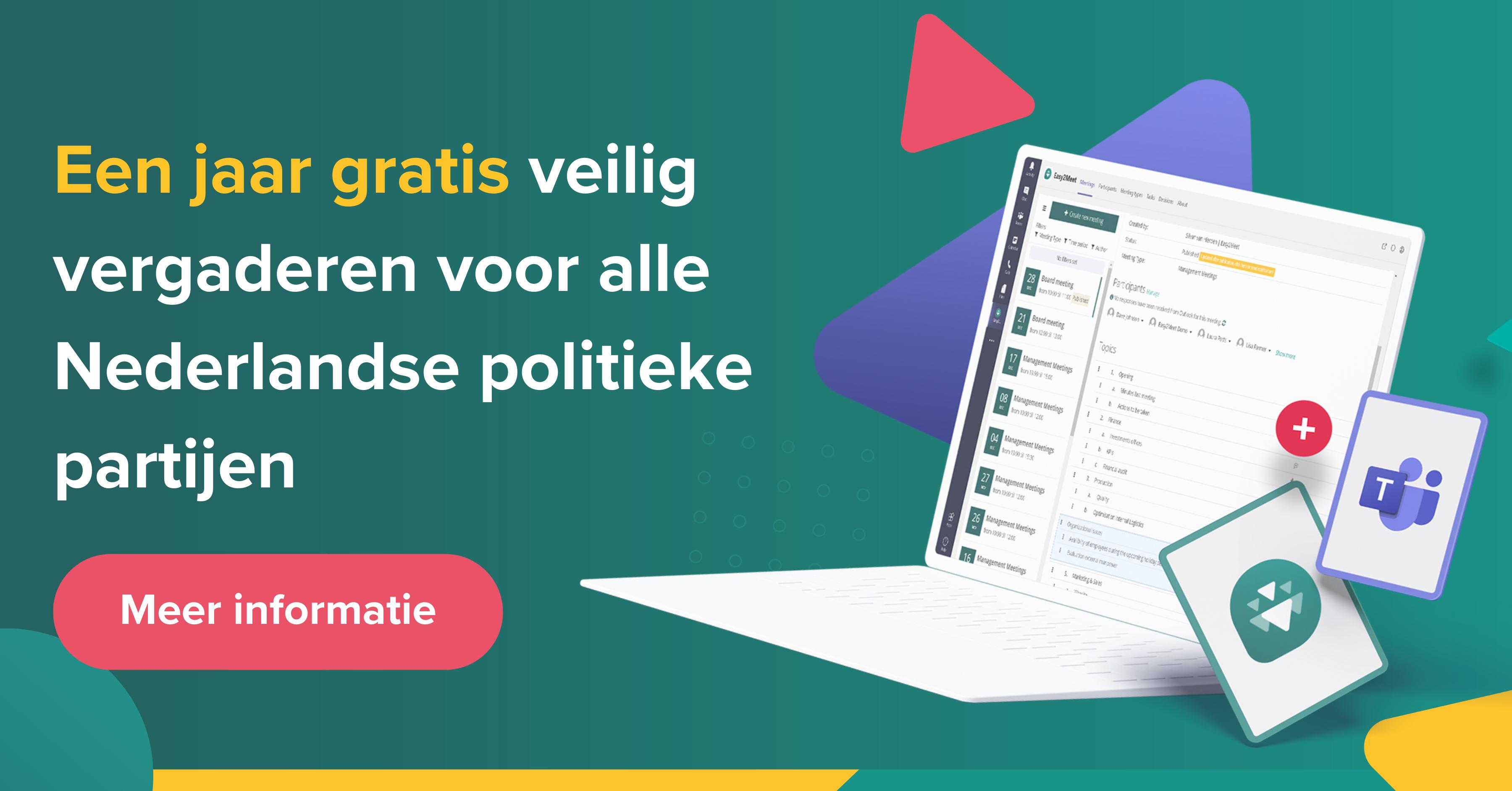 Een jaar gratis veilig vergaderen voor alle Nederlandse politieke partijen